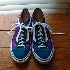 Purple and Teal Vans